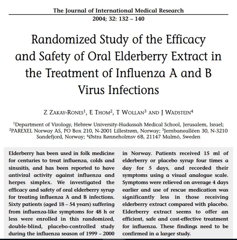 Study about Elderberry Benefits